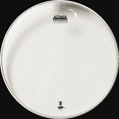 """with Tone Ridge Attack DHA16CR 16/"""" 1-Ply Coated Medium Percussion Drum Head"""