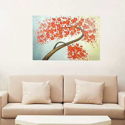 *Flower Tree* Hand Painted Oil Painting On Canvas Abstract Home Decor Art Framed