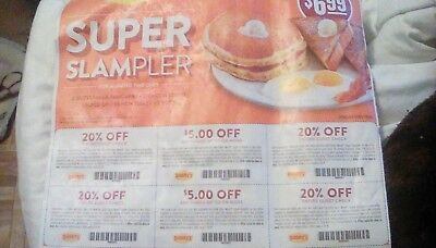 Denny's coupon (20% off & $5.00 off purchase) Exp: 2/20/19