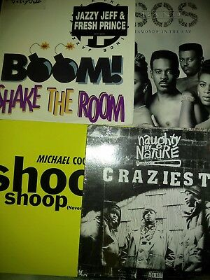 """Lot Of 23 12"""" Singles Records Naughty By Nature Jazzy Jeff Fresh Prince R Kelly"""
