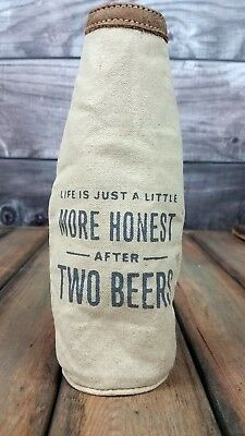 Humorous BEER BOTTLE KOOZIE Canvas Drink Insulation Cover NEW free shipping