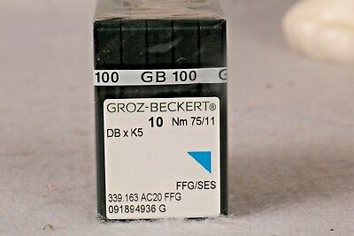 100 Qty Groz Beckert Industrial Embroidery Machine Needles Dbxk5 10 75/11
