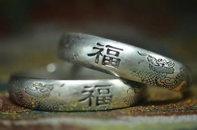Delicate China Collection Seedling Silver Jewelry*福&dragon*bracelet