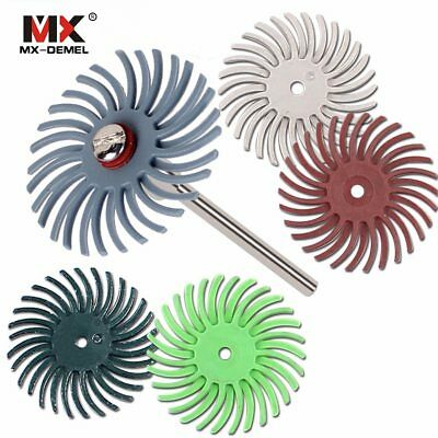 MX-DEMEL 6pcs Detail Abrasive Brush Mixed Grit Coarse  Accessories For  Rotar…