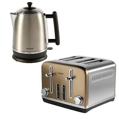 Gold Kettle Toaster Set Stainless 4 Slice Toast Cheap Sale Buy Gift Kitchen