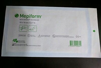 1 SHEET MEPIFORM SCAR REDUCTION DRESSING 4x7inch 10x18cm Exp. 04/20 - FAST SHIP!