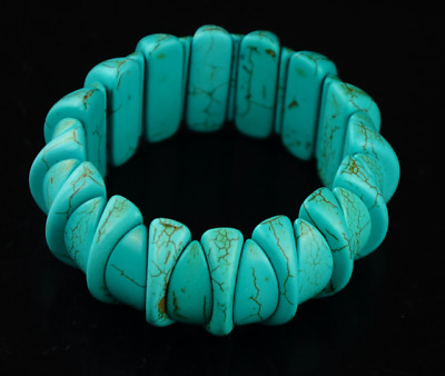 Antique Chinese Ancient Aristocratic Wear Turquoise Bracelet