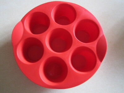 tupperware red muffin  silicon bakeware