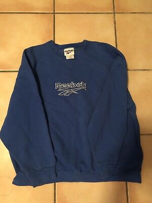 86cef46c8b677 VINTAGE REEBOK CREWNECK Pullover Sweatshirt Spellout Embroidered Mens  Medium 90s