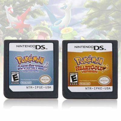 Pokemon HeartGold SoulSilver Game Card For 3DS NDSI NDS NDSL Lite2 US Version
