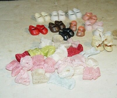 "Estate Large Lot Of Vintage Vogue 8"" Ginny Doll Shoes & Socks # 26"