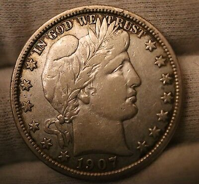 1907-D Barber Half Dollar About Uncirculated/AU*
