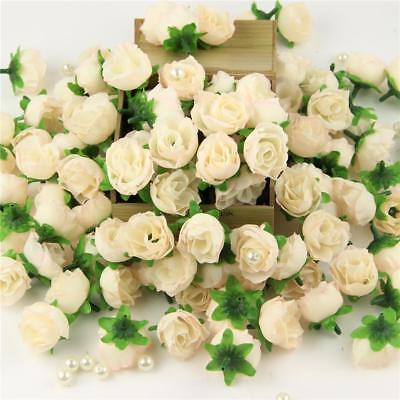 15X Roses Artificial Silk Flower Heads Wholesale Lots Party Wedding Decor Nude