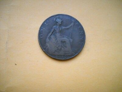World historic coin large penny 1912 Great Britain United Kingdom