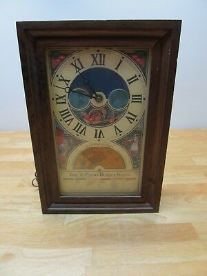 Vintage Time To Plant Burpee Seeds Centennial Clock 1876-1976 Mechatronics WORKS