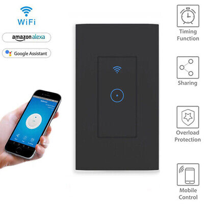 SMART LED LIGHT Dimmer WiFi Wall Touch Switch For Alexa Google Home App  Timing
