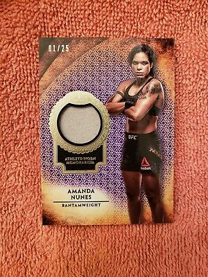 2018 Topps UFC Knockout AMANDA NUNES material relic 1/25 fighter worn mint