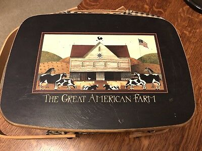 LONGABERGER Great American Farm Basket (signed by Several family members) RARE
