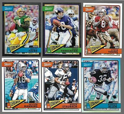 2018 Panini Classics Football Lot Legends Cards Payton Favre Staubach SEE LIST