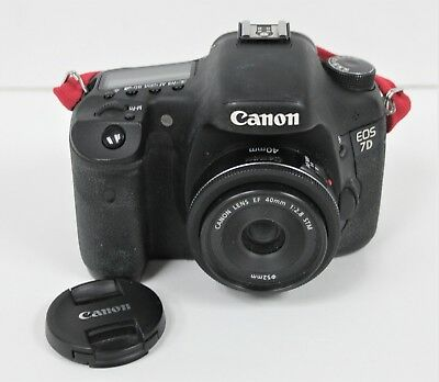 Canon EOS 7D Mark II Camera W/40mm Macro Lens Tested Working Great