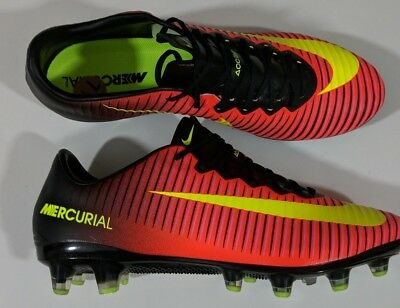 more photos 7f209 92680 NIKE MERCURIAL VAPOR XI 11 AG Pro Cleats ACC Crimson Red Men Size 7.5  831957 871