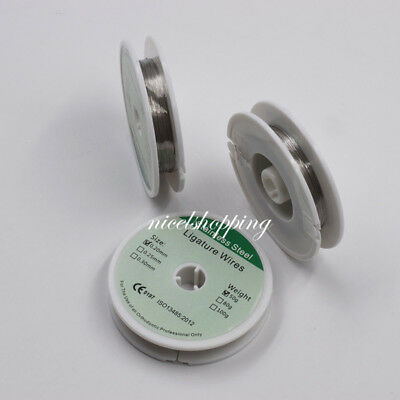 Dental Orthodontic Ligature Wires Stainless Steel Wire 50g 0.2/0.25/0.3mm Roll