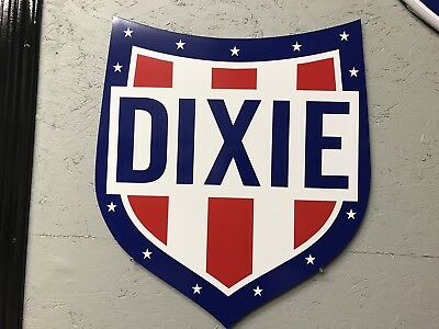Antique Vintage Old Style Dixie Gasoline Oil Sign