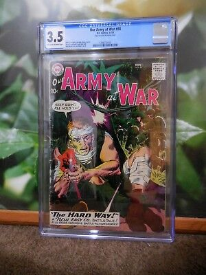 Our Army At War Cgc 3.5 First Sgt Rock Cover Silver Age Key