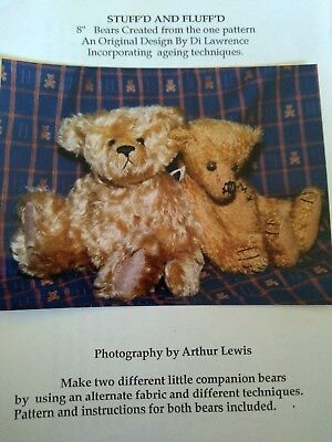 "Stuffd and Fluffd bear pattern by Di Lawrence (8"") + 1 free pattern"