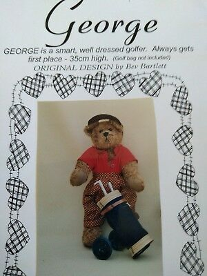 George bear pattern by Bev Bartlett  (35cm) + 1 free pattern