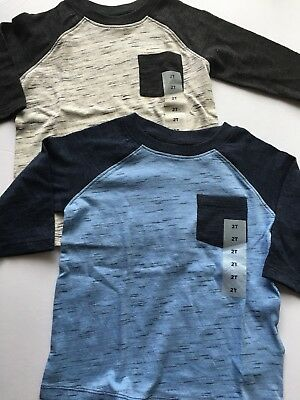 Old Navy Toddler Boys Long Sleeve Henley Top Size 2T