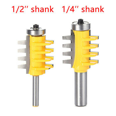 "1/2"" 1/4"" Reversible Shank Finger Glue Joint Router Bit Cutter Woodworking Tool"