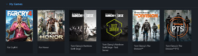 Uplay account( Far cry 4, For Honor, Tom Clancy R6, and The Division.)
