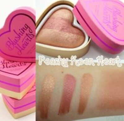 MakeUp Revolution Triple Baked Blushing Heart Blush Peachy Keen Authentic