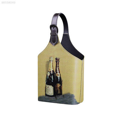 00BD Retro Wine Gift Box Storage Holder Blanket For 2Bottles Carrier With Handle