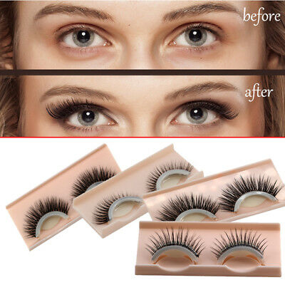 Valentine's Day Gift Reusable Self-Adhesive Natural Curly Eyelashes Extension GF