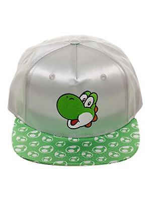 0de63b569 OFFICIAL NINTENDO SUPER Mario Bros Adult Yoshi Hat Snapback Shiny ...