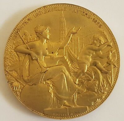 Medaille Leopold Ii Exposition Universelle D'anvers 1885