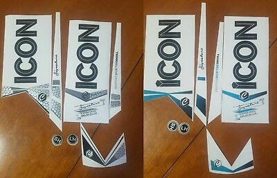 2 sets of Brand New Superb Quality ICON SIGNATURE cricket Bat Stickers Fast Post