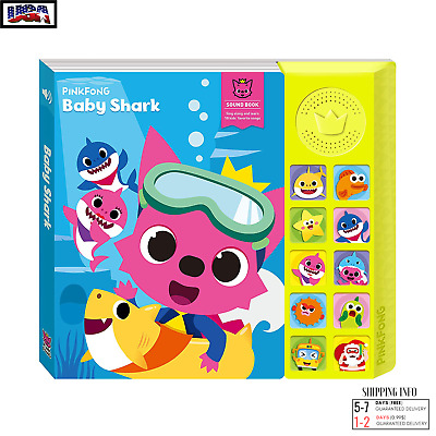 Pinkfong Song Book Plush Baby Shark Animal Goose Sound Singing Kids Toy Official