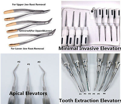 1X Dental Tooth Root Extraction Extracting Apical Elevators Upper Lower Forceps