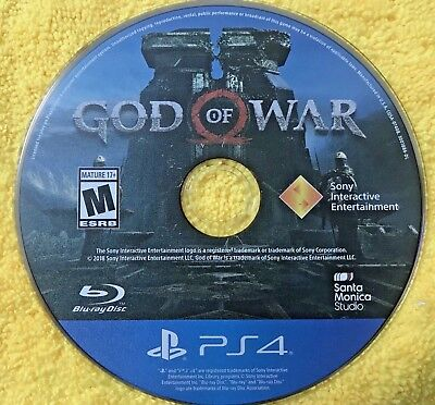 God of War Sony PlayStation4 PS4 Playstation 4 Video Game DISC ONLY