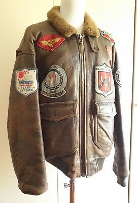 a119d9b271c Avirex G-1 Top Gun Pearl Harbour Vintage Aviator Flight Leather Jacket  Pelle