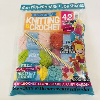 LET'S GET CRAFTING Magazine #107 With AMAZING YARN KIT! (SALE)