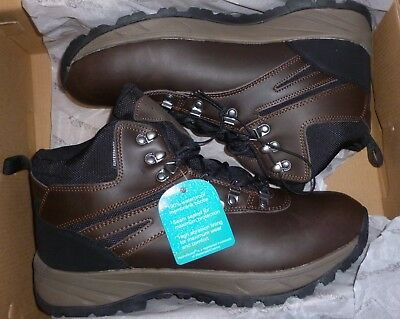 280fc5c827f7b Eddie Bauer Everett Men s Hiking Boots Leather Cushioned Insole Brown New  In Box