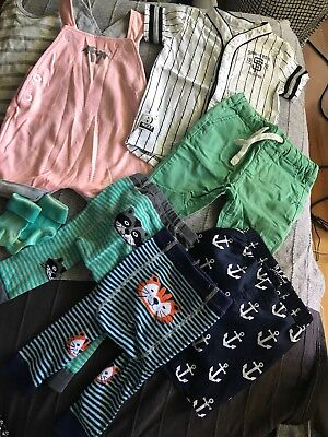 Baby Boys Clothes Mixed Lot Sz 0 Bonds Next Target  M&S Tiny Little Wonders