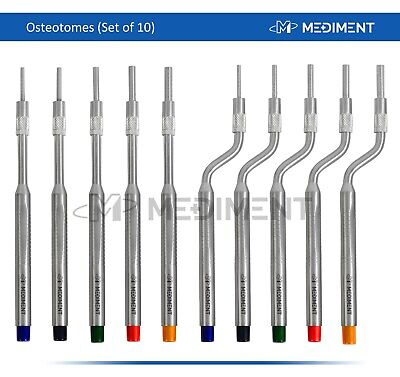 Sinus Lift Osteotomes Kit Straight Off Set Concave Dental Implant Instrument CE
