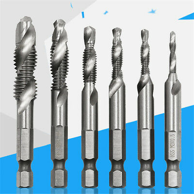Spiral Wood Thread  Metric Dril Bits  Taps Screw  Countersink Deburr Hex Shank