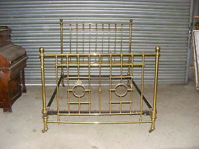 King Sized Antique Brass Bed