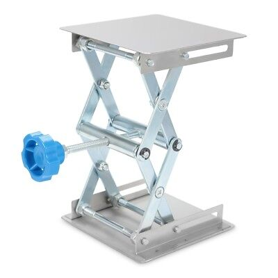 Stainless Steel Lifting Platform Stand Rack Scissor Lab Jack  Adjustable Height